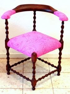 roze stoeltje