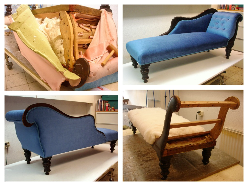 chaise longue stofferen
