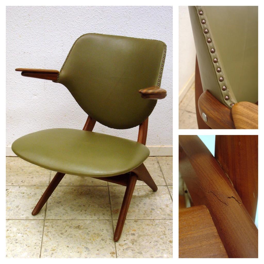 pelican chair Louis van Teeffelen stofferen