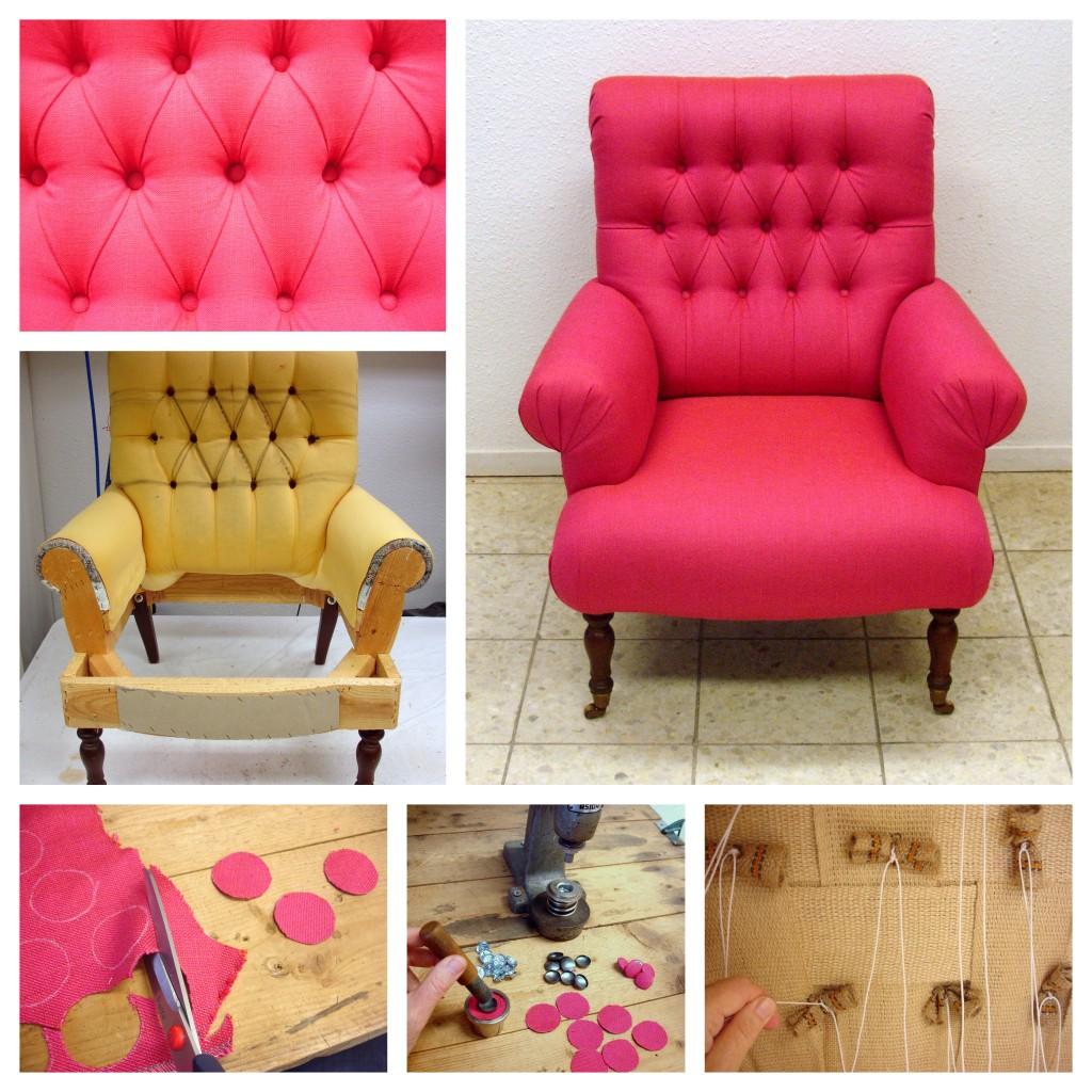fauteuil stofferen